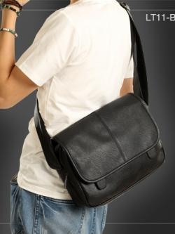 LT11-Black กระเป๋าสะพายข้าง หนัง PU สีดำ